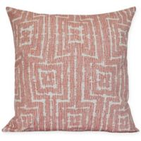 Woven Tiki Square Throw Pillow in Orange
