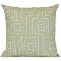 Woven Tiki Square Throw Pillow in Green