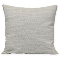 Rolling Waves Square Throw Pillow in Green