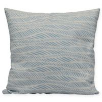 Rolling Waves Square Throw Pillow in Light Blue