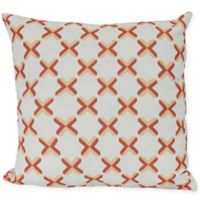 Criss Cross Square Throw Pillow in Coral