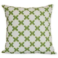 Criss Cross Square Throw Pillow in Green