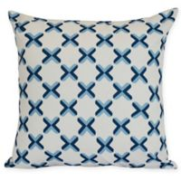 Criss Cross Square Throw Pillow in Blue