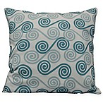 Coastal Rip Curl Square Throw Pillow in Aqua