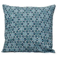 Water Mosaic Coastal Square Throw Pillow in Teal