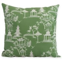 Chinapezka Floral Square Throw Pillow in Green