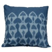 Watermark Coastal Square Throw Pillow in Blue