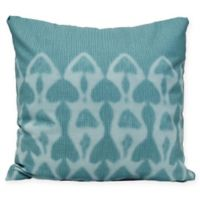 Watermark Coastal Square Throw Pillow in Teal