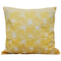 Beach Clouds Coastal Square Throw Pillow in Yellow