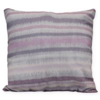 Raya De Agua Stripe Square Throw Pillow in Lavender