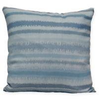 Raya De Agua Stripe Square Throw Pillow in Light Blue