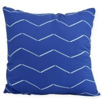 Harlequin Stripe Square Throw Pillow in Royal Blue