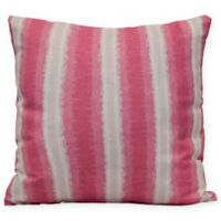 Sea Lines Stripe Square Throw Pillow in Pink