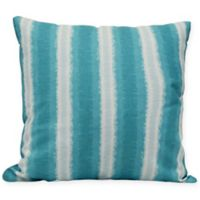 Sea Lines Stripe Square Throw Pillow in Teal