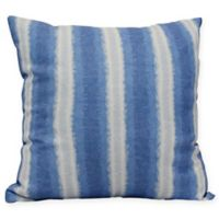 Sea Lines Stripe Square Throw Pillow in Blue