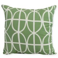 Ovals and Stripes Square Throw Pillow in Green