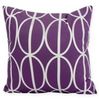 Ovals Go 'Round Square Throw Pillow in Purple