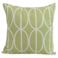 Ovals Go 'Round Square Throw Pillow in Green
