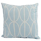 Ovals Go 'Round Square Throw Pillow in Pale Blue