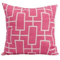 E by Design Screen Lattice Square Throw Pillow in Fuchsia