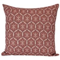 E by Design Tufted Square Throw Pillow in Maroon