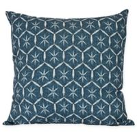 E by Design Tufted Square Throw Pillow in Navy Blue