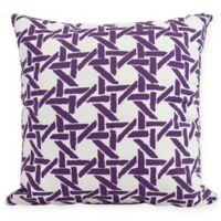 E by Design Rattan Geometric Square Pillow in Purple