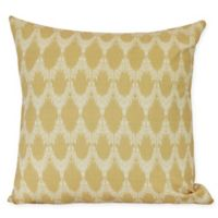 Peace Square Throw Pillow in Gold