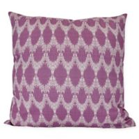 Peace Square Throw Pillow in Purple