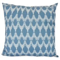 Peace Square Throw Pillow in Blue
