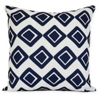 E by Design Diamond Jive 1 Squre Pillow in Navy Blue