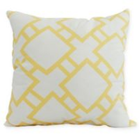 E by Design Square in St. Louis Square Pillow in Yellow