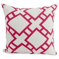 E by Design Square in St. Louis Square Pillow in Pink/Fuschia
