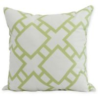E by Design Square in St. Louis Square Pillow in Green