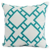 E by Design Square in St. Louis Square Pillow in Blue