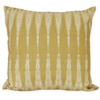 Peace Geometric Icicles Square Throw Pillow in Gold