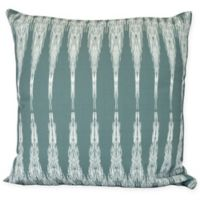 Peace Geometric Icicles Square Throw Pillow in Green