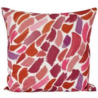 E by Design Wenstry Square Throw Pillow in Cranberry