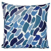 E by Design Wenstry Square Throw Pillow in Blue