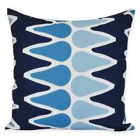Colored Picks Square Throw Pillow in Navy Blue