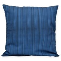 Pool Stripe Square Throw Pillow in Navy Blue