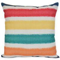 Fun In The Sun Stripe Square Throw Pillow in Blue