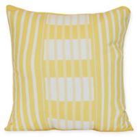 Beach Blanket Stripe Square Throw Pillow in Yellow