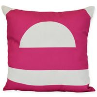 Lock Geometric Square Throw Pillow in Pink