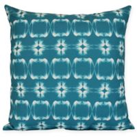 Summer Picnic Geometric Square Throw Pillow in Teal