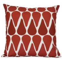 Watermelon Seeds Geometric Square Throw Pillow in Red