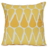 Watermelon Seeds Geometric Square Throw Pillow in Yellow