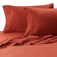 MicroTouch Queen Sateen Sheet Set in Brick