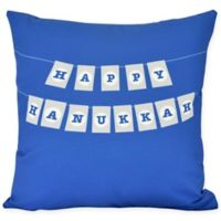 Banner Day Square Throw Pillow in Royal Blue