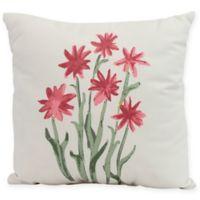 E by Design Daffodils Square Pillow in Rust